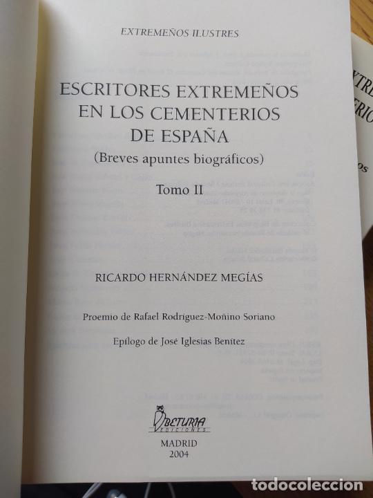 Libros de segunda mano: Escritores extremeños en los cementerios de España, Ricardo Hernandez, Ed. Beturia, 2004 - Foto 14 - 252425375