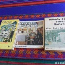 Libros de segunda mano: HISTORIA DEL SAINETE NACIONAL BLAS RAÚL GALLO, CRÓNICAS ARGENTINAS LA HISTORIA POPULAR 66. GENOCIDIO. Lote 253064650