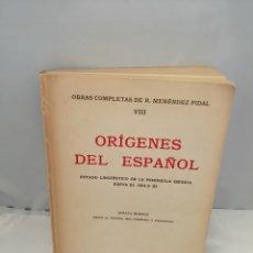 Livros em segunda mão: OBRAS COMPLETAS DE R. MENÉNDEZ PIDAL. TOMO VIII (CONTIENE SUBRAYADOS). Lote 253241095