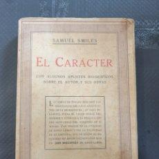 Libros de segunda mano: EL CARÁCTER - SAMUEL AMILES. Lote 253626185