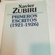 Libros de segunda mano: XAVIER ZUBIRI PRIMEROS ESCRITOS (1921-1926) SA3641. Lote 279454573