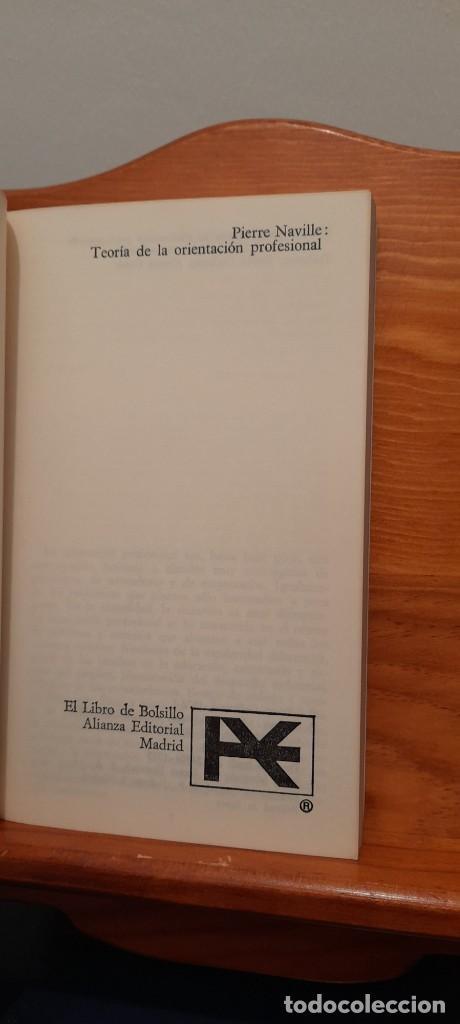 Libros de segunda mano: TEORIA DE LA ORIENTACION PROFESIONAL - Foto 7 - 254456300