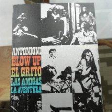 Libros de segunda mano: ANTONIONI BLOW UP, EL GRITO, LAS AMIGAS, LA AVENTURA. Lote 258978815
