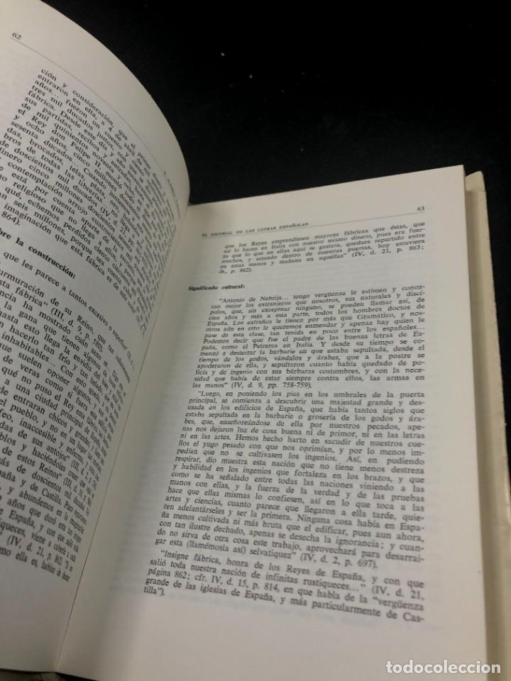 Libros de segunda mano: EL ESCORIAL EN LAS LETRAS ESPAÑOLAS. SATURNINO ALVAREZ TURIENZO. ARTE. MADRID 1963 - Foto 6 - 261364925