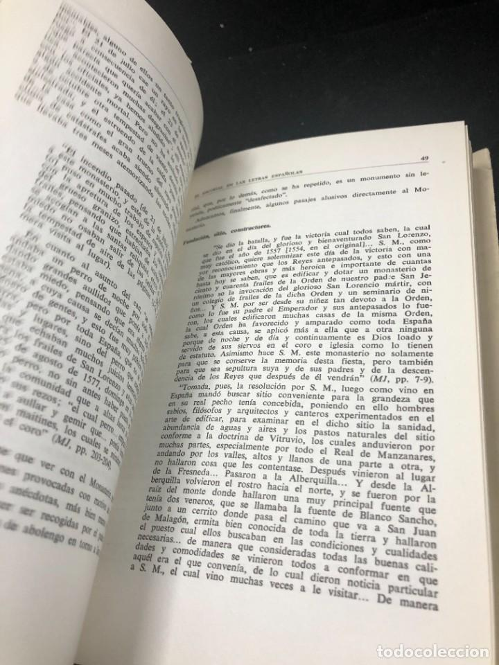 Libros de segunda mano: EL ESCORIAL EN LAS LETRAS ESPAÑOLAS. SATURNINO ALVAREZ TURIENZO. ARTE. MADRID 1963 - Foto 7 - 261364925