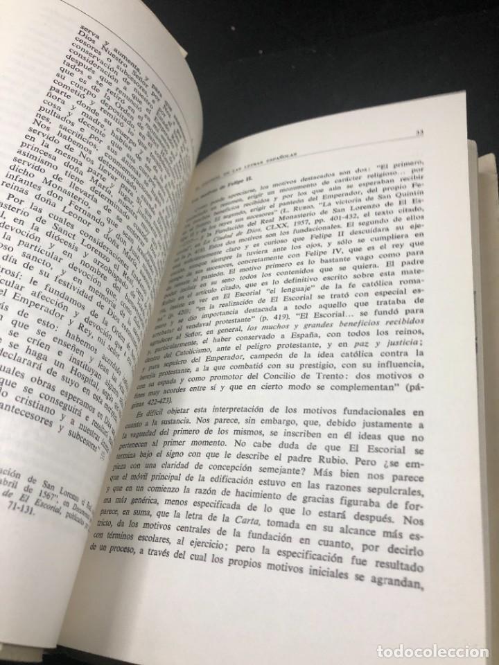 Libros de segunda mano: EL ESCORIAL EN LAS LETRAS ESPAÑOLAS. SATURNINO ALVAREZ TURIENZO. ARTE. MADRID 1963 - Foto 11 - 261364925