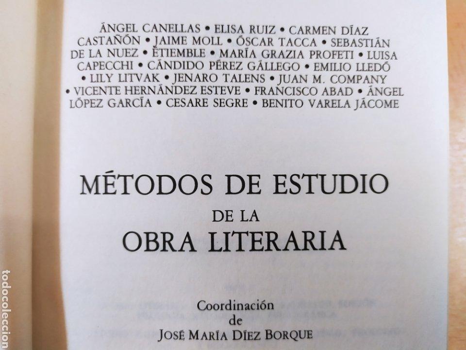 Libros de segunda mano: METODOS DE ESTUDIO DE LA OBRA LITERARIA / VV.AA. / TAURUS. 1985 - Foto 2 - 261587700