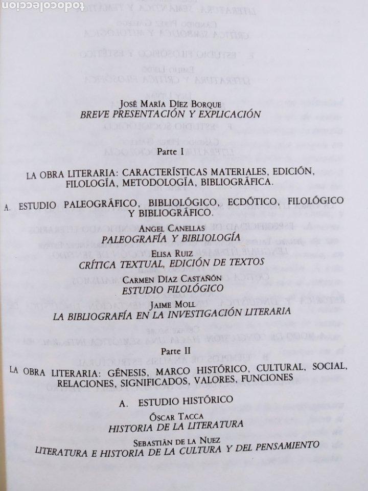 Libros de segunda mano: METODOS DE ESTUDIO DE LA OBRA LITERARIA / VV.AA. / TAURUS. 1985 - Foto 3 - 261587700