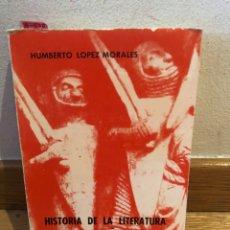 Libros de segunda mano: HISTORIA DE LA LITERATURA MEDIEVAL ESPAÑOLA HUMBERTO LÓPEZ MORALES. Lote 262576420