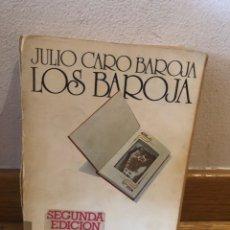 Libros de segunda mano: JULIO CARO BAROJA LOS BAROJA. Lote 262576490