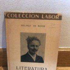 Libros de segunda mano: HELMUT DE BOOR LITERATURA SUECA. Lote 262576715