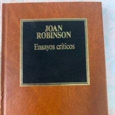Libros de segunda mano: JOAN ROBINSON, ENSAYOS CRÍTICOS. Lote 264416209