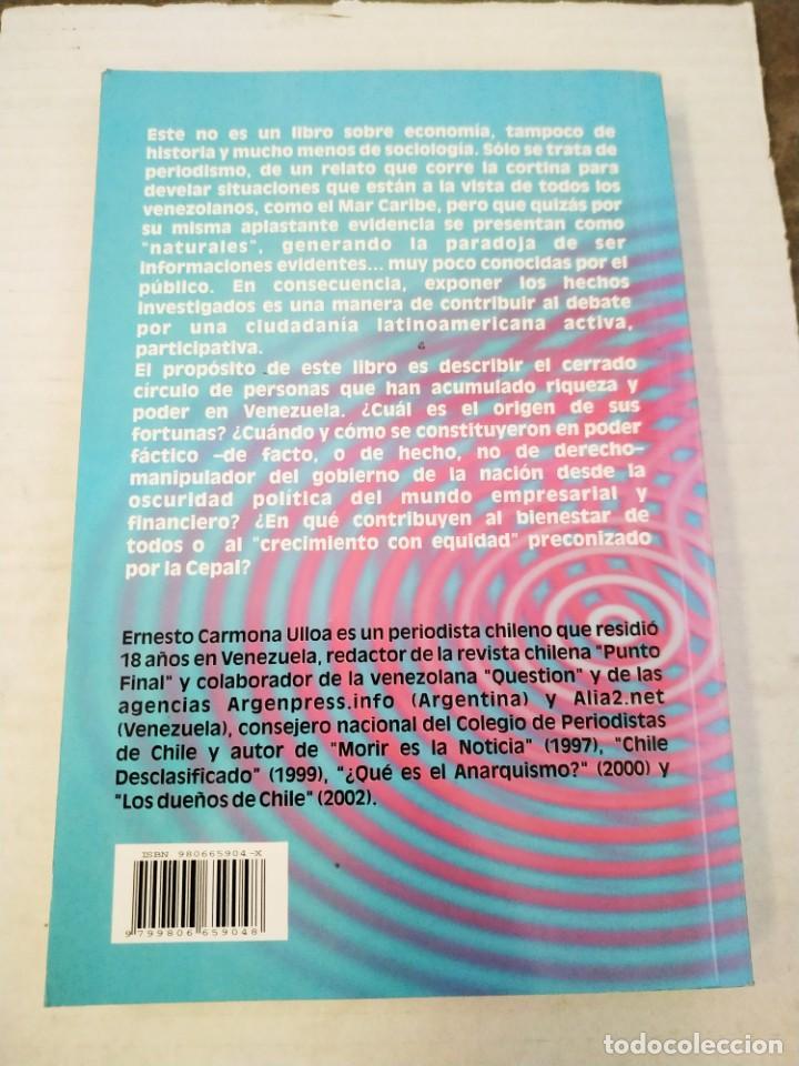 Libros de segunda mano: Los Dueños de Venezuela - Ernesto Carmona Ulloa - Foto 2 - 268572389