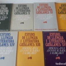 Libros de segunda mano: MISCEL.LÀNIA ANTONI M. BADIA I MARGARIT 1 - 2 - 3 - 4 -5 - 6 Y 8 / 7 EXEMPLARS / ESTUDIS DE LLENGUA. Lote 268747654