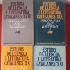 Libros de segunda mano: MISCEL.LÀNIA JOAN BASTARDAS 1 - 2 - 3 Y 4 / 4 EXEMPLARS / ESTUDIS DE LLENGUA I LITERATURA CATALANES. Lote 268749114