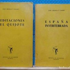 Libros de segunda mano: LOTE ORTEGA Y GASSET - ESPAÑA INVERTEBRADA Y MEDITACIONES DEL QUIIJOTE - REVISTA DE OCCIDENTE. Lote 269174718