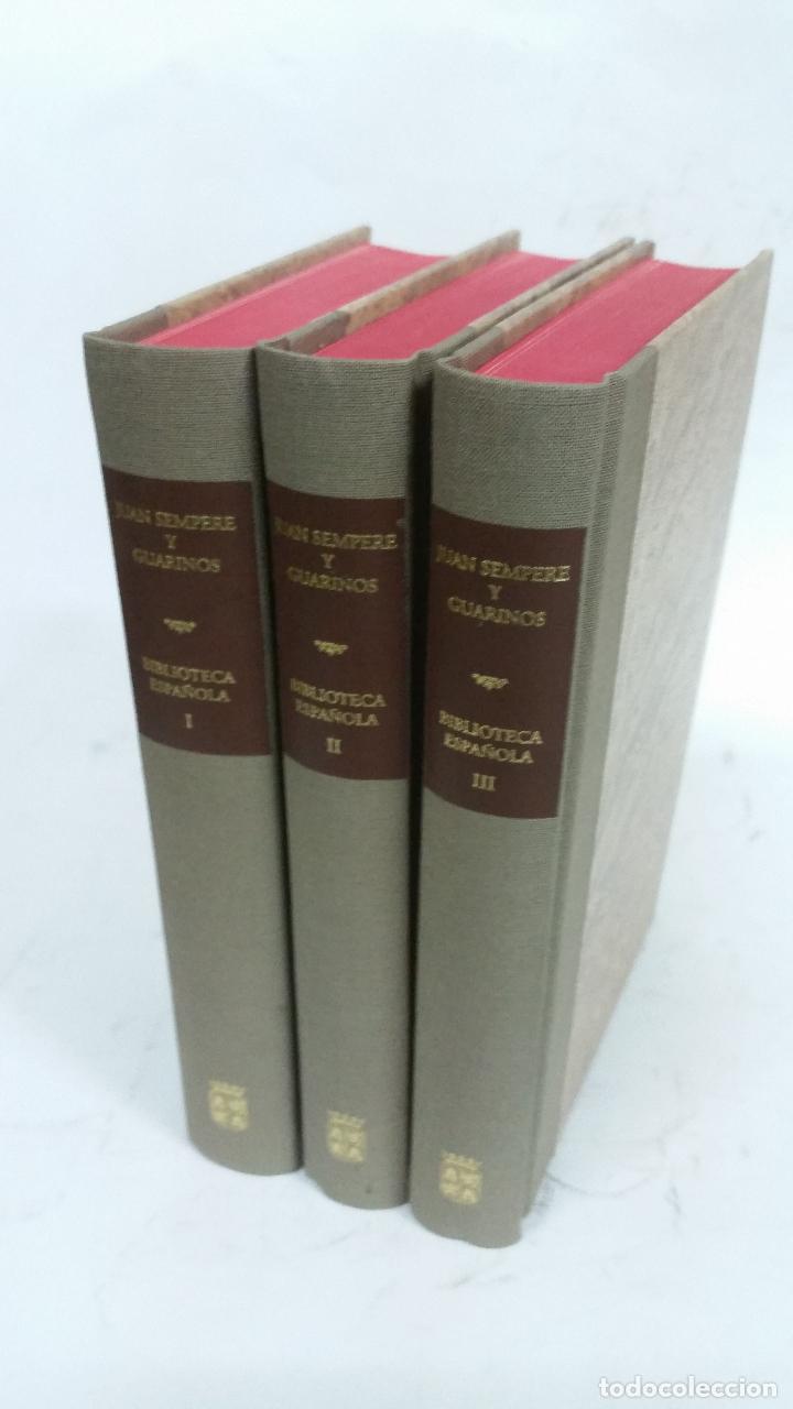 1997 -SEMPERE ENSAYO DE UNA BIBLIOTECA ESPAÑOLA DE LOS MEJORES ESCRITORES DEL REINADO DE CARLOS III (Libros de Segunda Mano (posteriores a 1936) - Literatura - Ensayo)