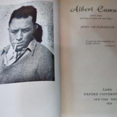 Libros de segunda mano: ALBERT CAMUS AND THE LITERATURE OF REVOLT. CRUICKSJANK, JOHN. OXFROD UNIVERSITY. NEW YORK, 1959. Lote 269369688