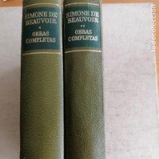 Libri di seconda mano: OBRAS COMPLETAS DE SIMONE DE BEAUVOIR. TOMOS I Y II. AGUILAR 1978 1221 Y 1117PP. Lote 270216118