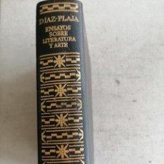 Libros de segunda mano: ENSAYOS SOBRE LITERATURA Y ARTE DIAZ PLAJA EDIT AGUILAR 1° EDICION ANO 1973 1443PP. Lote 270217863