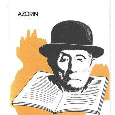 Libros de segunda mano: AZORÍN : LECTURAS ESPAÑOLAS. (AGRUPACIÓN NACIONAL DEL COMERCIO DEL LIBRO, 1974). Lote 278569533