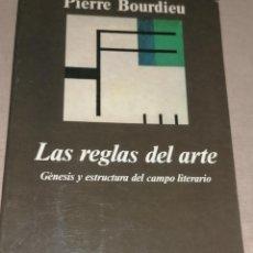 Libros de segunda mano: LAS REGLAS DEL ARTE - PIERRE BOURDIEU PIERRE BOURDIEU ANAGRAMA 1995 508PP. Lote 278673808