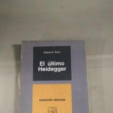 Libros de segunda mano: EL ÚLTIMO HEIDEGGER - OCTAVIO N. DERISI. Lote 278871318