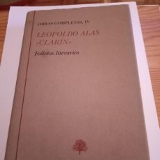 Libros de segunda mano: BLIBLIOTECA CASTRO - LEOPOLDO ALAS CLARÍN, FOLLETOS LITERARIOS. Lote 279454328