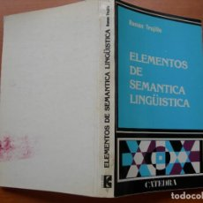 Livros em segunda mão: ELEMENTOS DE SEMÁNTICA LINGÜÍSTICA / RAMÓN TRUJILLO. Lote 283321123