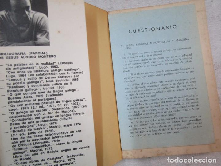 Libros de segunda mano: GALICIA - ENCUESTA MUNDIAL SOBRE LA LENGUA Y LA CULTURA GALLEGAS..- XESUS ALONSO MONTERO - AKAL 1974 - Foto 2 - 287333138