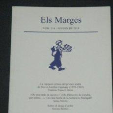 Libros de segunda mano: REVISTA ELS MARGES Nº 114 HIVERN DE 2018 (MURGADES, MARIA AURELIA CAPMANY, ONOFRE PARES, ETC.). Lote 287942053