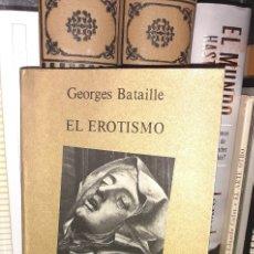 Libros de segunda mano: EL EROTISMO. GEORGES BATAILLE.. Lote 288072453