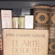 Libros de segunda mano: EL ARTE DESDE SU ESENCIA. JOSE CAMON AZNAR.1940. Lote 288076523
