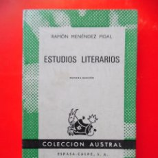 Livres d'occasion: ESTUDIOS LITERARIOS. R. MENÉNDEZ PIDAL. COLECCIÓN AUSTRAL Nº28 9ªED.1969 ESPASA CALPE. Lote 288211278