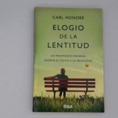 Livros em segunda mão: ELOGIO DE LA LENTITUD. CARL HONORÉ.. Lote 289245223