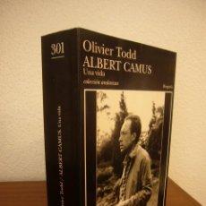Libros de segunda mano: OLIVIER TODD: ALBERT CAMUS. UNA VIDA (TUSQUETS, 1997) MUY RARO. Lote 289602823