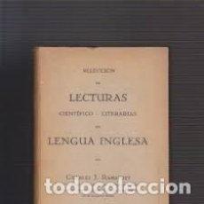 Libros de segunda mano: SELECCIÓN DE LECTURAS CIENTÍFICO LITERARIAS EN LENGUA INGLESA CHARLES J RAMSPOTT EN INGLÉS. Lote 289660333