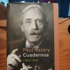 Libros de segunda mano: CUADERNOS 1894 - 1945 - VALERY , PAUL - GALAXIA GUTENBERG - CIRCULO DE LECTORES. Lote 293485728