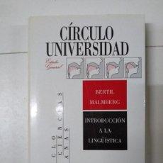 Livros em segunda mão: INTRODUCCIÓN A LA LINGÜÍSTICA - BERTIL MALMBERG. Lote 293909578
