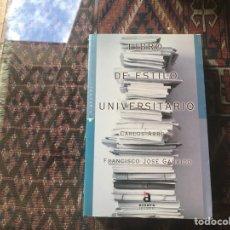 Libri di seconda mano: LIBRO DE ESTILO UNIVERSITARIO. CARLOS ARROYO. ACENTO EDITORIAL. Lote 294022048