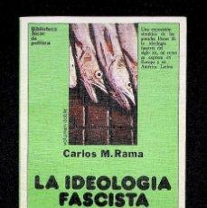 Libros de segunda mano: LA IDEOLOGÍA FASCISTA. CARLOS M. RAMA. EDICIONES JUCAR. 1979.. Lote 295502598