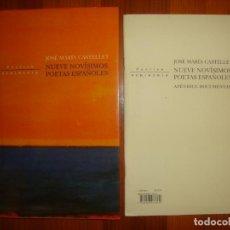 Libros de segunda mano: NUEVE NOVÍSIMOS ESPAÑOLES - JOSÉ MARÍA CASTELLET - PENÍNSULA - MUY BUEN ESTADO. Lote 295542188