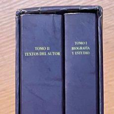 Libros de segunda mano: UNA PASION SOMBRIA, VIDA Y OBRA DE JULIO ANTONIO GOMEZ, 2 VOLUMENES. Lote 296951328
