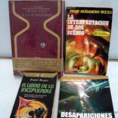 Libros de segunda mano - Lote 4 libros fenomenos paranormales (OVNIS, SUEÑOS,,,) - 25468574