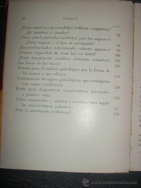 Libros de segunda mano: CONOZCA AL HOMBRE POR SUS MANOS, por Regina Orrego - Bell - Argentina - 1966 - RARO! - Foto 3 - 36136350