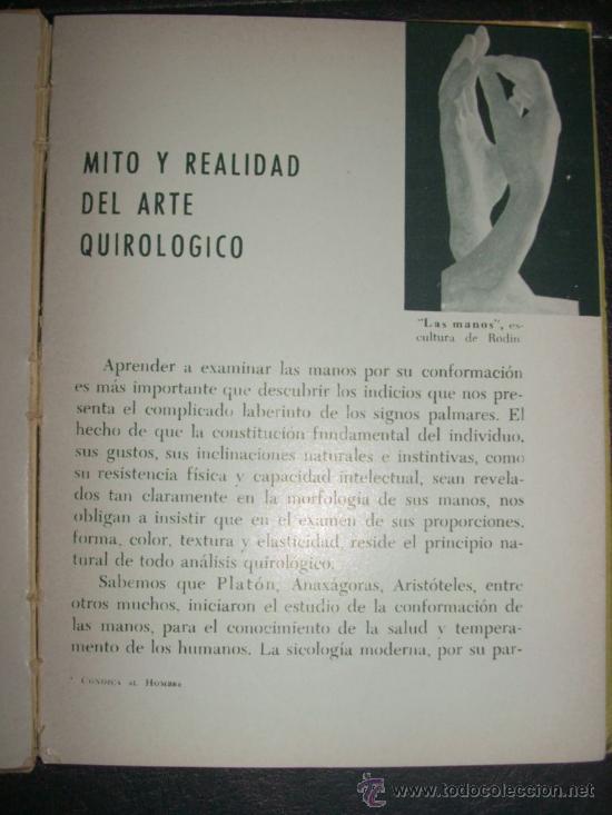 Libros de segunda mano: CONOZCA AL HOMBRE POR SUS MANOS, por Regina Orrego - Bell - Argentina - 1966 - RARO! - Foto 4 - 36136350