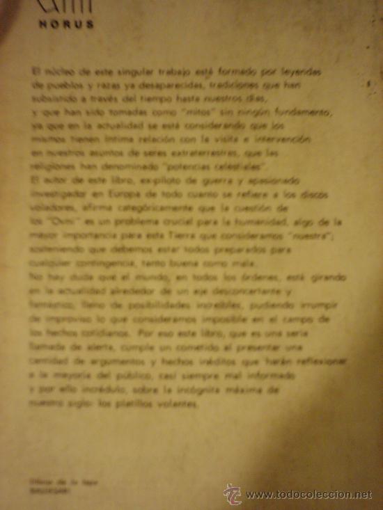 Libros de segunda mano: LA REALIDAD DE LOS OVNI A TRAVES DE LOS SIGLOS, por Luis Anglada Font - KIER - 1ra. Edic. - 1968 - Foto 6 - 39142973