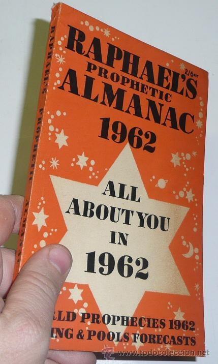 Libros de segunda mano: Raphaels Prophetic Almanac 1962 - All about you in 1962 - World Prophechies - Edwin Raphael - Foto 2 - 41736833