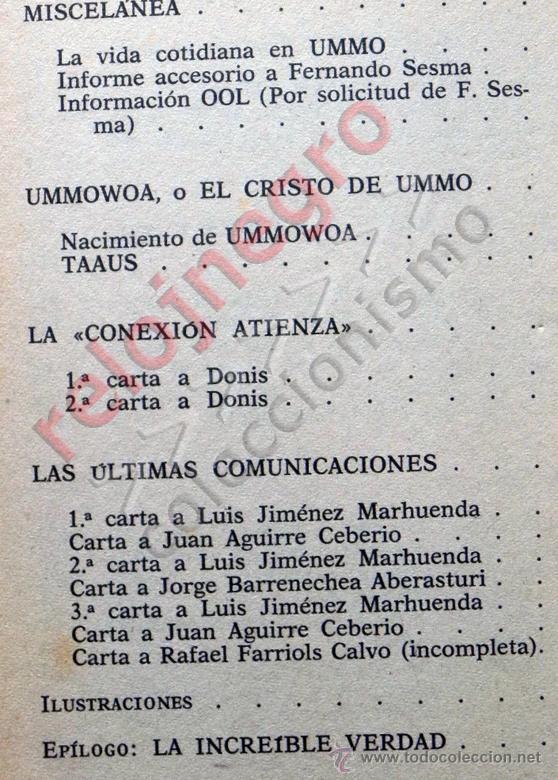 Libros de segunda mano: UMMO LA INCREÍBLE VERDAD - ANTONIO RIBERA UMMITAS EXTRATERRESTRES UFOLOGÍA OVNIS MISTERIO OVNI LIBRO - Foto 5 - 42030019
