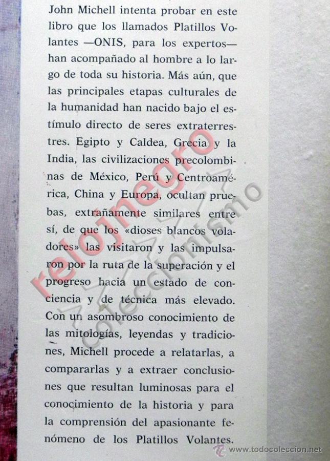 Libros de segunda mano: LOS PLATILLOS VOLANTES Y LOS DIOSES - JOHN MICHELL - UFOLOGÍA OVNIS MISTERIO OVNI SANTO GRIAL LIBRO - Foto 3 - 44252751